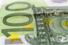 Cientos euros Macro imagenes de archivo