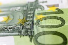 Cientos euros Macro imagen de archivo libre de regalías