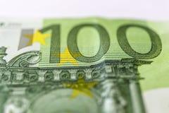 Cientos euros Macro imagen de archivo