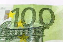 Cientos euros Macro fotos de archivo libres de regalías