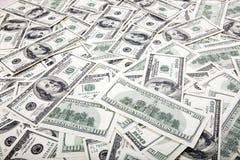 Cientos líos de los billetes de dólar - revés Fotografía de archivo libre de regalías