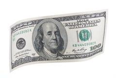 Cientos notas del dólar Foto de archivo libre de regalías
