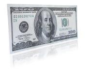 Cientos notas del dólar fotos de archivo libres de regalías