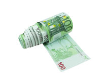 Cientos papeles higiénicos euro de las cuentas Fotografía de archivo libre de regalías