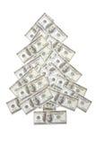 Cientos árboles de Navidad del dólar Imagen de archivo