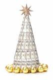 Cientos árboles de Navidad del dólar Fotografía de archivo