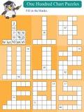 Cientos rompecabezas matemáticos 2 de la carta Imagenes de archivo