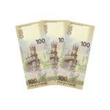 Cientos rublos, fotos de archivo