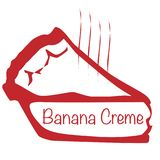 Ciepły Bananowy Creme kulebiak royalty ilustracja