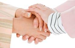 ciepły biznesowy żeński uścisk dłoni obraz stock