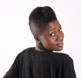 ciepły dziewczyna czarny uśmiech Obraz Royalty Free