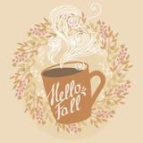 Ciepły jesień napój Filiżanka kawy Fotografia Royalty Free