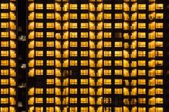 Ciepły nocy światła budynku wzór Zdjęcie Royalty Free