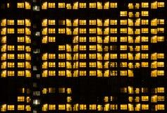 Ciepły nocy światła budynku wzór Obrazy Royalty Free
