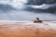 ciepły plażowy zimno Obraz Royalty Free