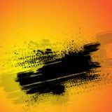 Pomarańczowy opona śladu tło ilustracji