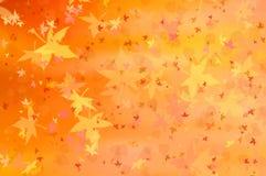 Ciepły tło z liśćmi Fotografia Royalty Free