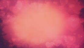 Ciepły walentynek serc tło Fotografia Stock