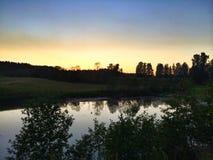 ciepły wieczór lato obrazy stock