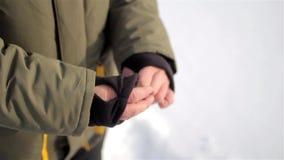 Ciepli rękawów mankieciki z kciuk dziurą ręka mężczyzna s zbiory