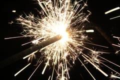 Cierge magique brûlant Photos stock