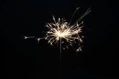 Cierge magique brûlant de Noël Images libres de droits