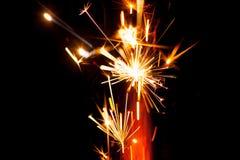 Cierge magique de feu d'artifice Image stock
