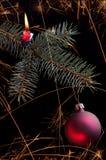 Cierge magique de Noël Images libres de droits