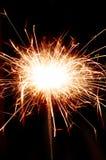 Cierge magique de Noël du Bengale sur le fond noir Photo libre de droits