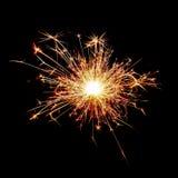 Cierge magique de Noël sur le noir Photo stock