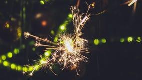 Cierge magique de partie de nouvelle année photo stock