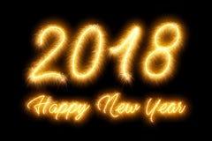 Cierge magique des numéros 2018 - concept de bonne année Photo libre de droits
