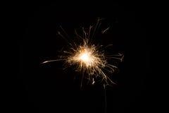 Cierge magique en gros plan de feu d'artifice Image libre de droits