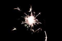 Cierge magique pyrotechnique Matériel d'éclairage pour la nouvelle année et le Noël Photo libre de droits
