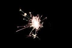 Cierge magique pyrotechnique Matériel d'éclairage pour la nouvelle année et le Noël Photographie stock libre de droits