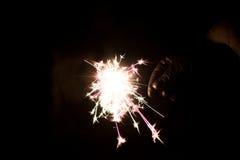 Cierge magique pyrotechnique Matériel d'éclairage pour la nouvelle année et le Noël Image libre de droits