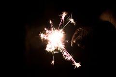 Cierge magique pyrotechnique Matériel d'éclairage pour la nouvelle année et le Noël Photographie stock