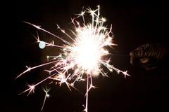 Cierge magique pyrotechnique Matériel d'éclairage pour la nouvelle année et le Noël Images stock