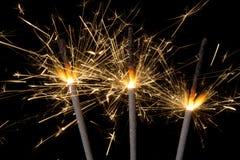 Cierges magiques de feu d'artifice Photographie stock