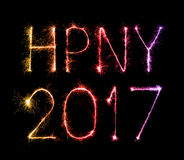 Cierges magiques de feu d'artifice de 2017 bonnes années Photographie stock libre de droits
