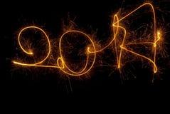 Cierges magiques de l'inscription 2017 de bonne année Images stock
