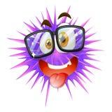 Cierniowata piłka z twarzą Zdjęcie Royalty Free