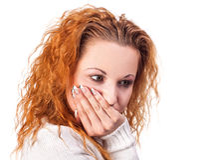 Cierpieć od toothache Fotografia Royalty Free