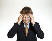 Cierpienie biznesmen z migreną Zdjęcie Stock