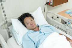 Cierpliwa płuco infekcja obraz stock