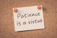Cierpliwość Jest cnotą obraz royalty free