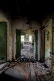 Cierpliwy pokój Zaniechany szpital & Karmiący dom - fotografia stock