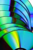 Cierra el â encima de la textura CD, color por completo Imágenes de archivo libres de regalías
