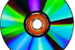 Cierra el â encima de la textura CD en el fondo blanco Fotos de archivo