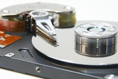 Cierre abierto del hardisk para arriba Fotos de archivo libres de regalías